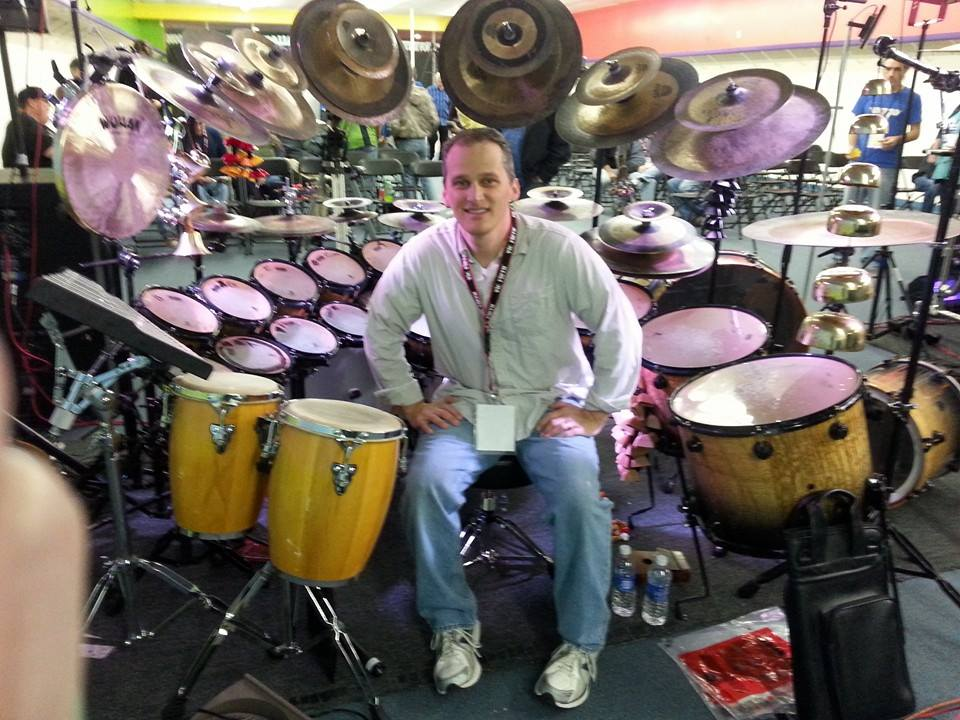 Rich In Front Of Terry Bozzio's Kit