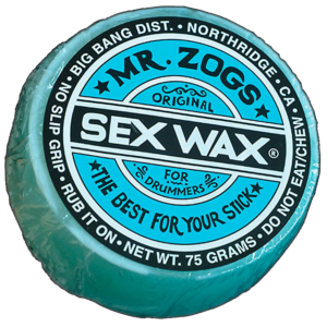 Richard Geer Uses Mr Zog's Sex Wax For Drumsticks